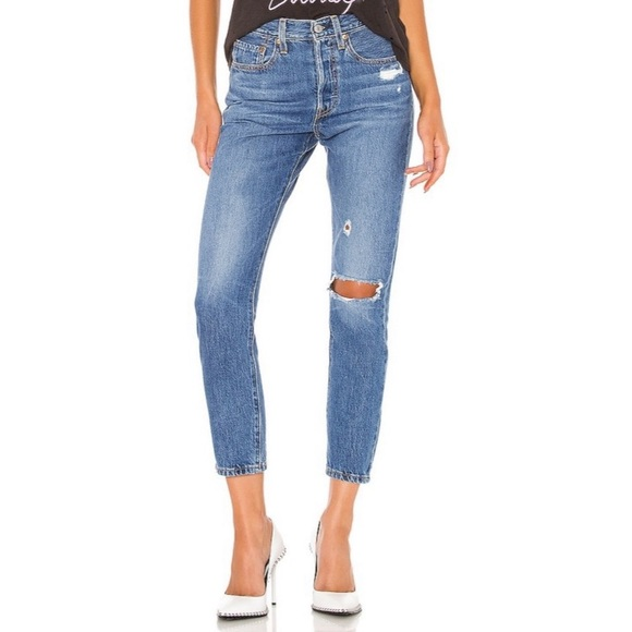Levi's Denim - Levi's 501 skinny high waist button fly jeans NWT